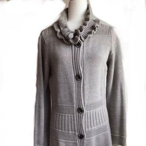 Hekla&Co Chunky tan  knit Sweater wool blend